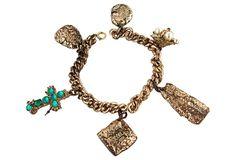 One Kings Lane - Goldtone Charm Bracelet