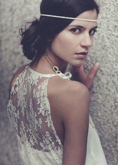 Lovely wedding dress by French designer Laure De Sagazan