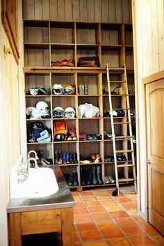 Mudroom Shoe storage. A dream come true.