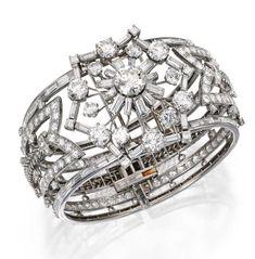 Platinový diamantový náramok Oscar Heyman & Brothers
