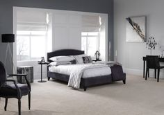 light gray paint room dark furniture - Google Search