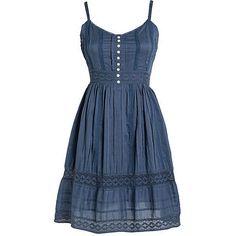 Dresses & Dresses for Juniors at dELiAs.com (155 BRL) ❤ liked on Polyvore featuring dresses, vestidos, blue, delias and blue dress