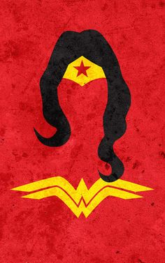 superhero minimalist posters: wonder woman