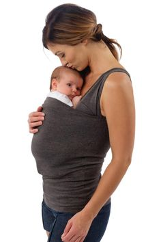 A stylish and innovative all-in-one babywearing shirt that's both a nursing tank for mom and a cozy carrying pouch for baby — Simple Babywearing. Newborn Nursing, Breastfeeding, Dad To Be Shirts, Baby Shirts, Baby Wish List, Nursing Tank, Pre Pregnancy, Pregnancy Books, Maternity Outfits