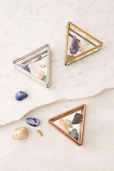 Boîte en verre triangulaire