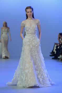 Elie Saab's Latest Showstopping Wedding Gown—Plus, 4 More Wedding-Worthy Dresses From Today's Couture Show