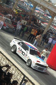Konya drag yarışlarından yarışmaya hazırlanan bir BMW