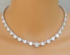 Back Drop Bridal Necklace Backdrop Wedding by CrystalAvenues