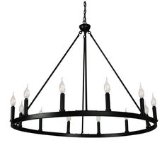 Shop Ancora 12 Light Chandelier Wagon Wheel 37 inches Wide Matte Black Steel Frame Large Home Decoration - On Sale - Overstock - 29769842 Wagon Wheel Light, Wagon Wheel Chandelier, Globe Chandelier, Black Chandelier, Chandeliers, Rustic Chandelier Lighting, Coastal Chandelier, Chandelier Bedroom, Empire Chandelier