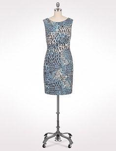 Tiered Snake Print Dress   Dressbarn