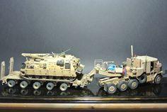 M1070 +M1000+M88a2, 1:35 #scale #model #m1070 #m88a2 #arv #tank #modern #us #recovery #transporter