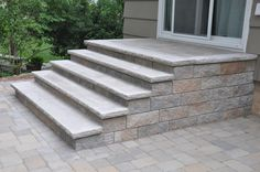new front steps brick or pavers - Google Search
