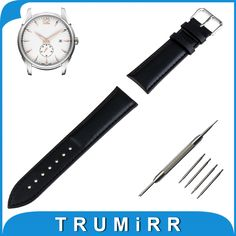11.99$  Watch now - Genuine Leather Watch Band 16mm 18mm 20mm 22mm 24mm + Tool + Pins for Hamilton Watchband Strap Wrist Belt Bracelet Brown Black  #magazineonlinewebsite
