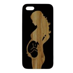 Miracle Of Life Pregnant Woman - Black Wood Case