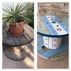 Vorher nachher kabeltrommel Table, Pictures, Furniture, Home Decor, Cable Spools, Photos, Homemade Home Decor, Mesas, Home Furnishings