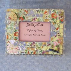 Mosaic Picture Frame   Tropical Paradise by NellsBelles on Etsy, $40.00