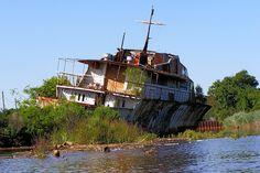 Luxury Yacht Ship Wreck, Raritan River, New Jersey by jag9889, via Flickr