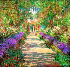 Claude Monet - Weg in Monets Garten