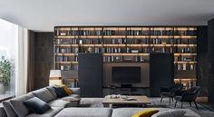 poliform - wall system - Tv cabinet | Pinterest