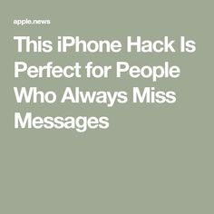 This iPhone Hack Is Perfect for People Who Always Miss Messages — Travel + Leisure All Iphones, Iphone Hacks, Travel And Leisure, Be Perfect, Tech, Messages, Ipads, People, Folk