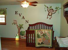 Jungle Babies Nursery Mural
