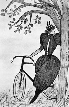 Gibson Girl: Bicycle Photograph