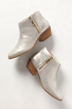 Shimmered Suede Booties #anthropologie