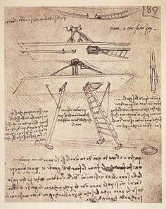 Study of a flying machine, by Leonardo da Vinci