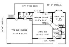 First Floor Plan of Country   Farmhouse  Southern   Traditional   House Plan 79519