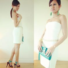 chic white & turquoise