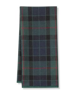 Black Watch Tartan Towels, Set of 2