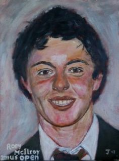 Rory McIlroy, US open 2011, acrylic on paper