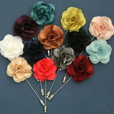 HANDMADE chic Boutonniere Flower Lapel Pin Button Mens Fashion Accessories /SX #Fashion #Style #Deal