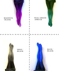 Ombre Tights gradient tights // PLUS SIZE  Hand dyed door xsilk, $47.00
