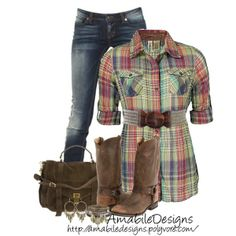 """""""#countrycasual"""" by amabiledesigns on Polyvore"""