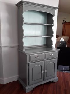 Items similar to Sold! Vintage Solid Maple Buffet with Hutch on Etsy Buffet Hutch, Dining Room Hutch, Kitchen Hutch, Hutch Makeover, Furniture Makeover, Hutch Redo, Dresser Makeovers, Painted Hutch, Paint Furniture