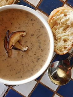 Famous mushroom soup recipe from The Grape in Dallas. Heaven in a bowl