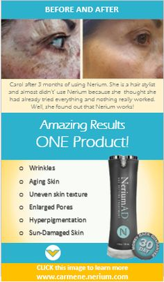 CLICK this image to see 1000+ before and after photos of REAL people using NeriumAD, an all natural night cream. www.carmene.nerium.com