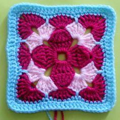 Watch The Video Splendid Crochet a Puff Flower Ideas. Phenomenal Crochet a Puff Flower Ideas. Crochet Stitches For Blankets, Crochet Square Blanket, Christmas Crochet Patterns, Crochet Blocks, Granny Square Crochet Pattern, Crochet Squares, Crochet Motif, Crochet Puff Flower, Crochet Flower Patterns
