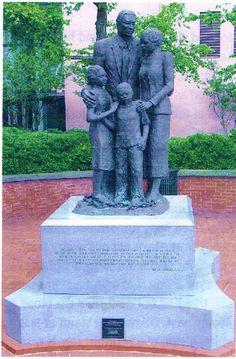 The celebrated African-American Monument in Savannah, Georgia, established under the leadership of Dr. Abigail Jordan.