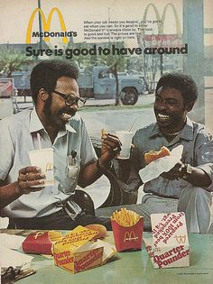 McDonald's 1975 and targeted advertising.