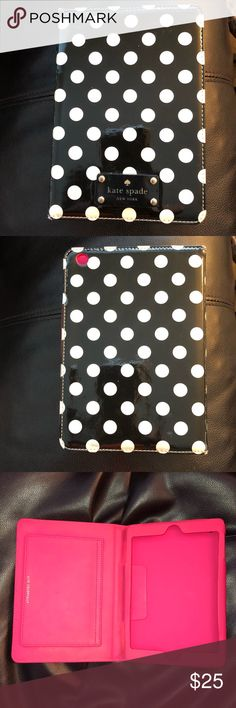 Kate spade iPad mini case iPad mini 1/2/3 case. Good condition.  A little bit of wear to all four corners And some color transfer on exterior. See pics for flaws. Price reflects condition kate spade Accessories Tablet Cases