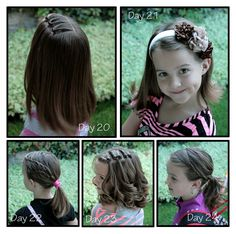Girly Do Hairstyles: By Jenn: Week of Beans {School} Hair