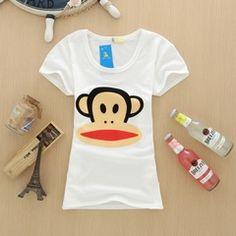 2014新韩版女装夏季短袖学生打底衫 休闲青春图案拉架棉T恤上衣