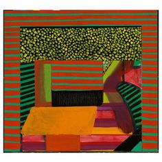 Howard Hodgkin I Lunch Painting & Drawing, Painting Prints, Howard Hodgkin, Rainbow Painting, Contemporary Paintings, Painting Inspiration, Art Lessons, Abstract Art, Abstract Landscape