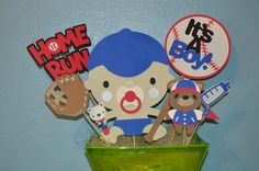 Baseball/Sports Its a Boy centerpiece by CCreativeMind on Etsy