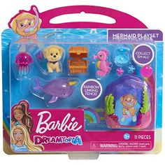 Barbie Dreamtopia Mermaid Figure Playset - 11 Pieces Image 1 of 2 Barbie Kids, Barbie Doll Set, Barbie Doll House, Barbie Dream, Little Girl Toys, Toys For Girls, Kids Toys, Diy Doll Closet, Elsa And Anna Dolls