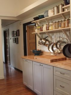 storage jars & butcher block - just what I was invisioning