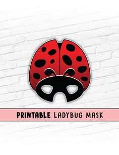 This listing is for a LADYBUG Printable Mask.  You will receive high resolution PDF files that you can print your own paper masks from at home.  PLEASE be sure the mask you are purchasing is the one you want. Due to the nature of Instant Download, you will have access to the files as soon as you check out, so you can not change your mind and request different files. Thanks for your understanding.  Cute creatures are always in style for Halloween! Or how about an animal themed birthday party?…
