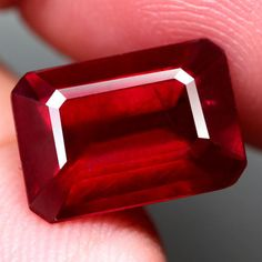 6.18CT.INTERESTING! OCTAGON FACET TOP BLOOD RED NATURAL RUBY MADAGASCAR #GEMNATURAL